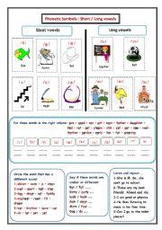 Phonetic Symbols Worksheets