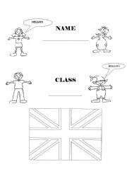 English worksheets: My English copybook