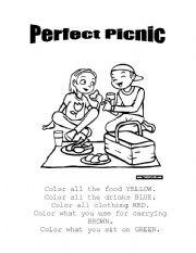 English worksheets: Perfect Picnic