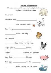 Animal Alliteration