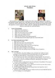 Julie and Julia worksheets