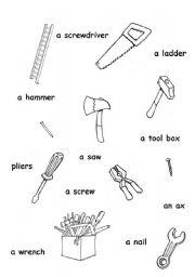 tools worksheets