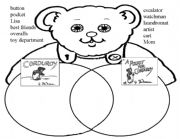 English worksheets: Corduroy Venn