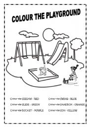 At the playground worksheets