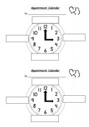 English worksheets: Appointment Clock