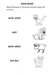 English worksheets: Animal Sounds