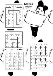 Mazes worksheets