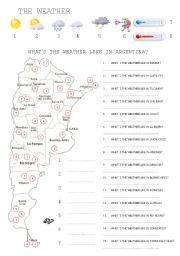 Argentina worksheets