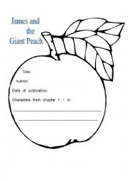 English worksheets: James and the giant Peach