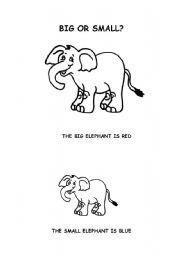 English worksheets: BIG OR SMALL?