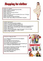 Shopping Conversation Worksheets