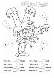 Carnival worksheets