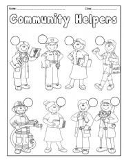 English Exercises: COMMUNITY HELPERS