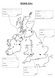 British Isles worksheets