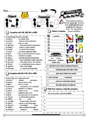 His/her worksheets