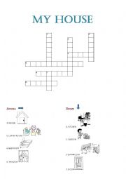 The house crossword worksheets
