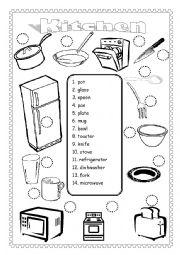 English Exercises: FURNITURE VOCAB