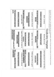 Hangman worksheets