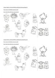 Despicable Me worksheets