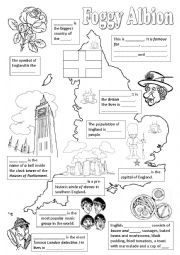 England worksheets