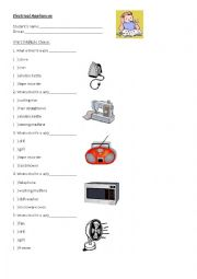 Electrical appliances worksheets