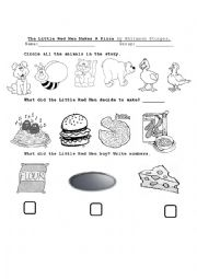 Little Red Hen worksheets