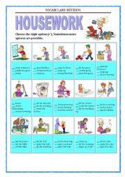 Housework Worksheets
