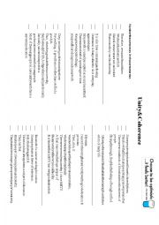 Identifying the main idea worksheets