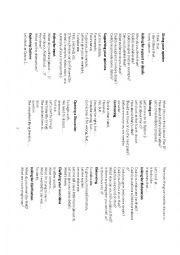 Speaking activities worksheets