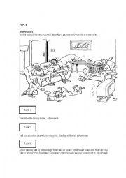 Speaking tests worksheets