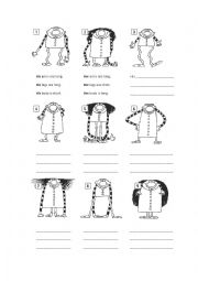 Physical appearance worksheets
