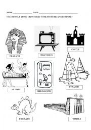 Ancient Egypt worksheets