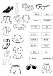 English Exercises: What do you wear?