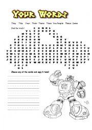 Transformers worksheets