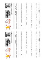Story comprehension worksheets
