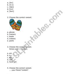 Multiple Choice Test Grade 3 - ESL worksheet by yolli123 [ 1161 x 821 Pixel ]