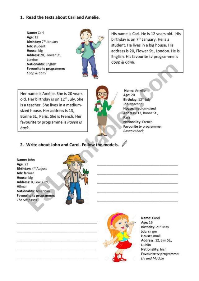 Writing Activity - ESL worksheet by Paulapaula