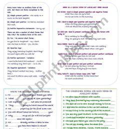 Auxiliary Verbs - ESL worksheet by mimika [ 1169 x 821 Pixel ]