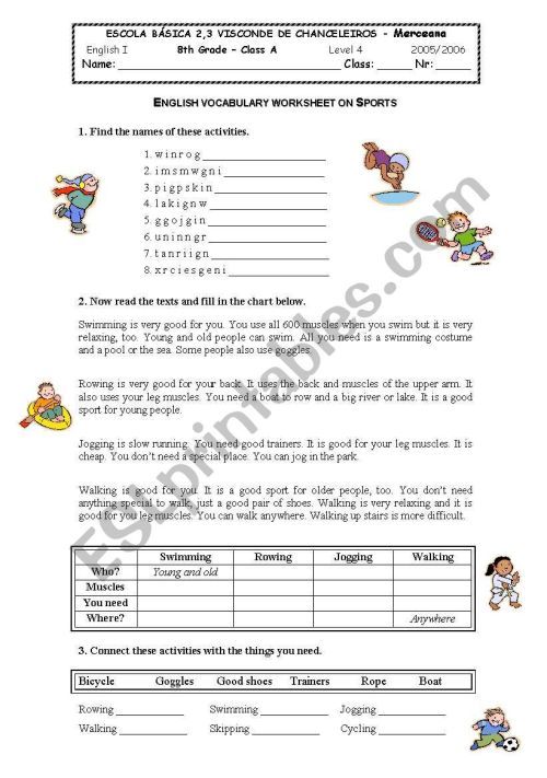 small resolution of sports - ESL worksheet by sybrgc
