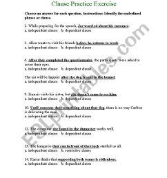 Independent Dependent Clause Worksheet - Nidecmege [ 1169 x 821 Pixel ]