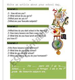 My school - ESL worksheet by Ana B [ 1169 x 821 Pixel ]