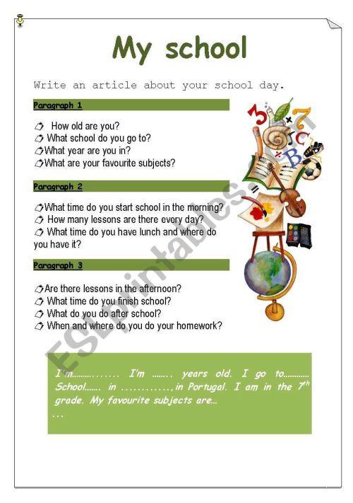 small resolution of My school - ESL worksheet by Ana B