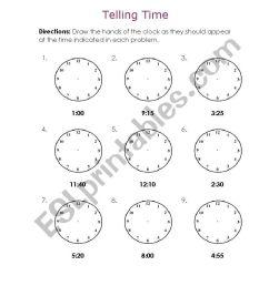 Telling Time - ESL worksheet by Melaniecb [ 1169 x 821 Pixel ]