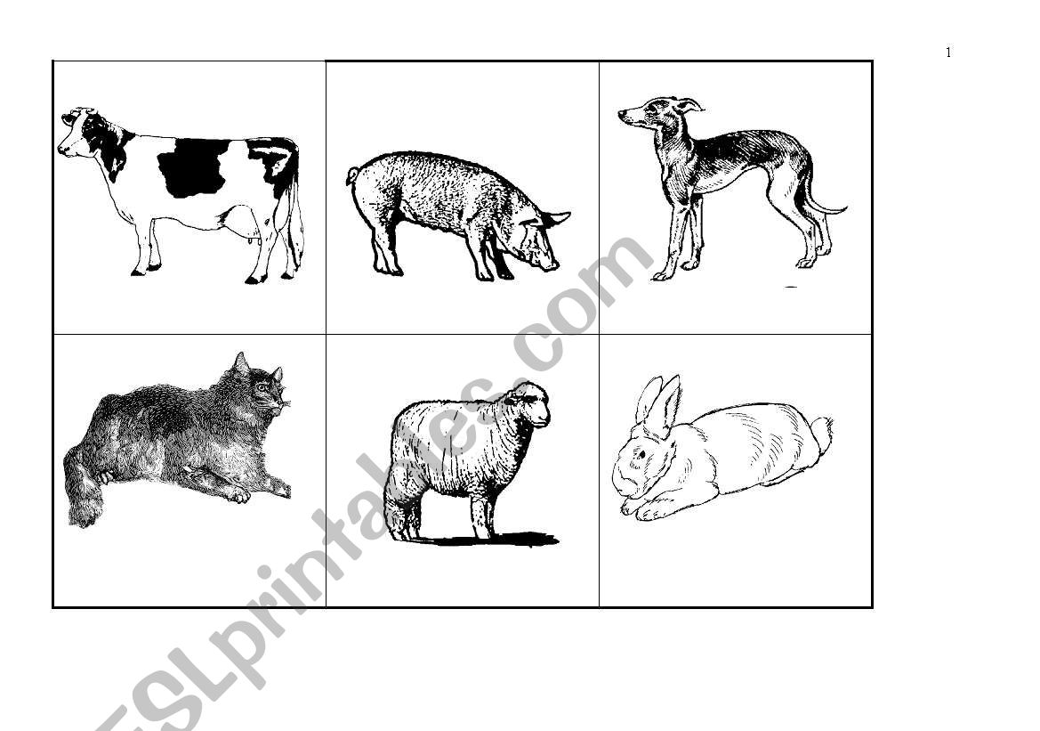 English Worksheets Mothers And Babies Animals