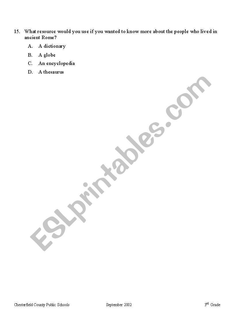 medium resolution of English worksheets: Ancient Rome Quiz