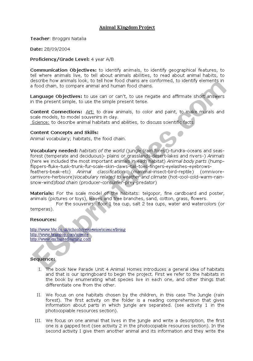 medium resolution of Science Lesson Plan - ESL worksheet by natyb