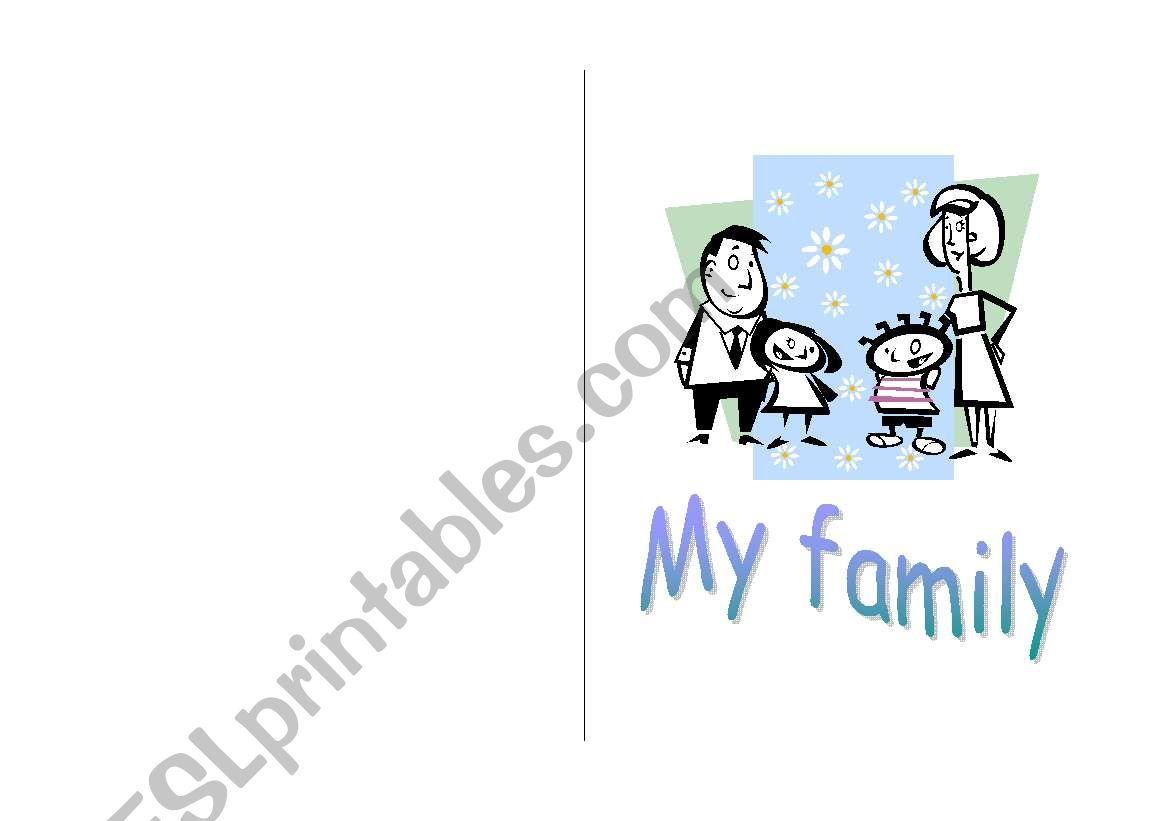 My Family Printable Book