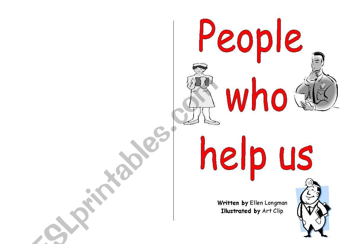 People Who Help Us Printable Book