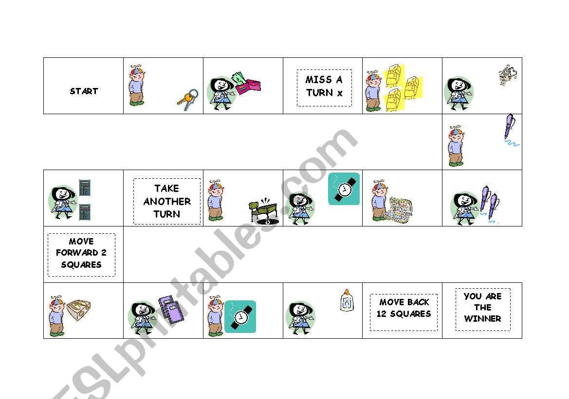 Demonstrative Pronouns Board Game