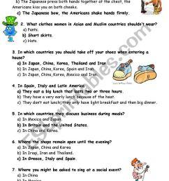 Quiz good manners - ESL worksheet by mojcafurlan [ 1169 x 821 Pixel ]